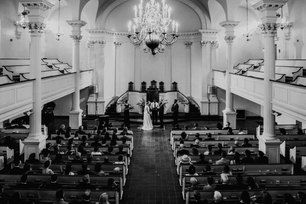 Wedding in All Souls sanctuary