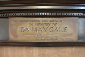 All Souls library plaque