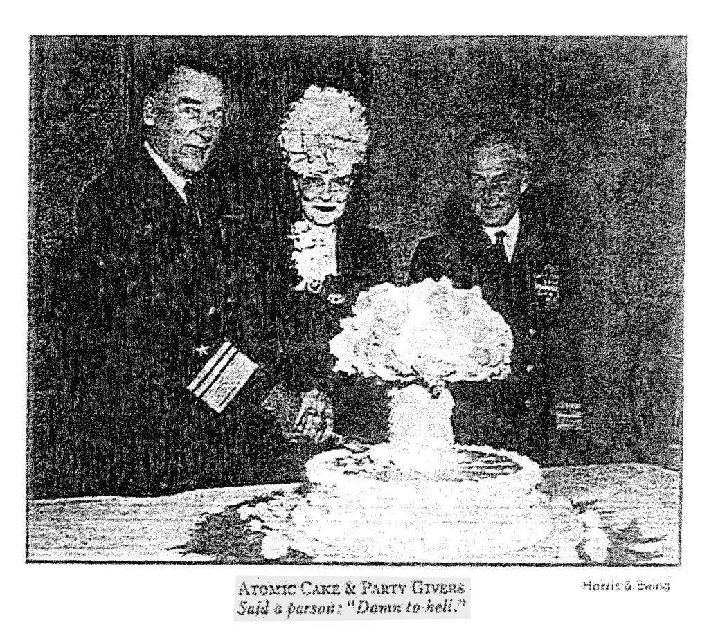 Photo of Atomic Bomb cake from Washington Post